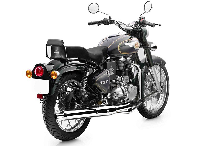 Royal-Enfield-Bullet-500-in-Forest-Green-colour-Back